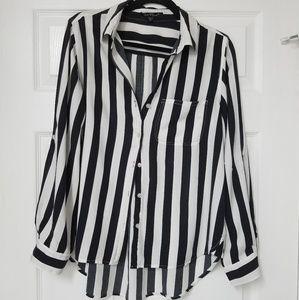 Velvet Heart Black/White Striped Blouse XL